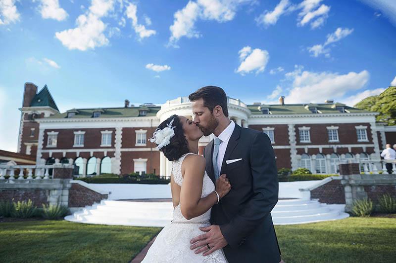 Bourne Mansion wedding portraits