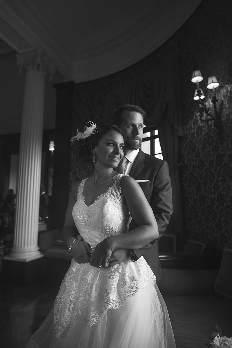 New York wedding portraits black and white