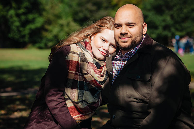 Fall Prospect Park engagement