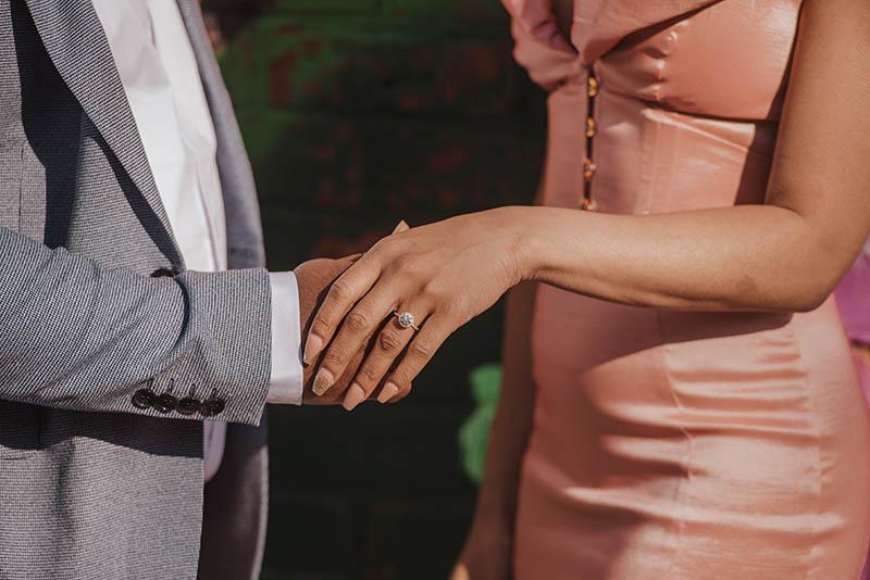 Black couple engagement photos