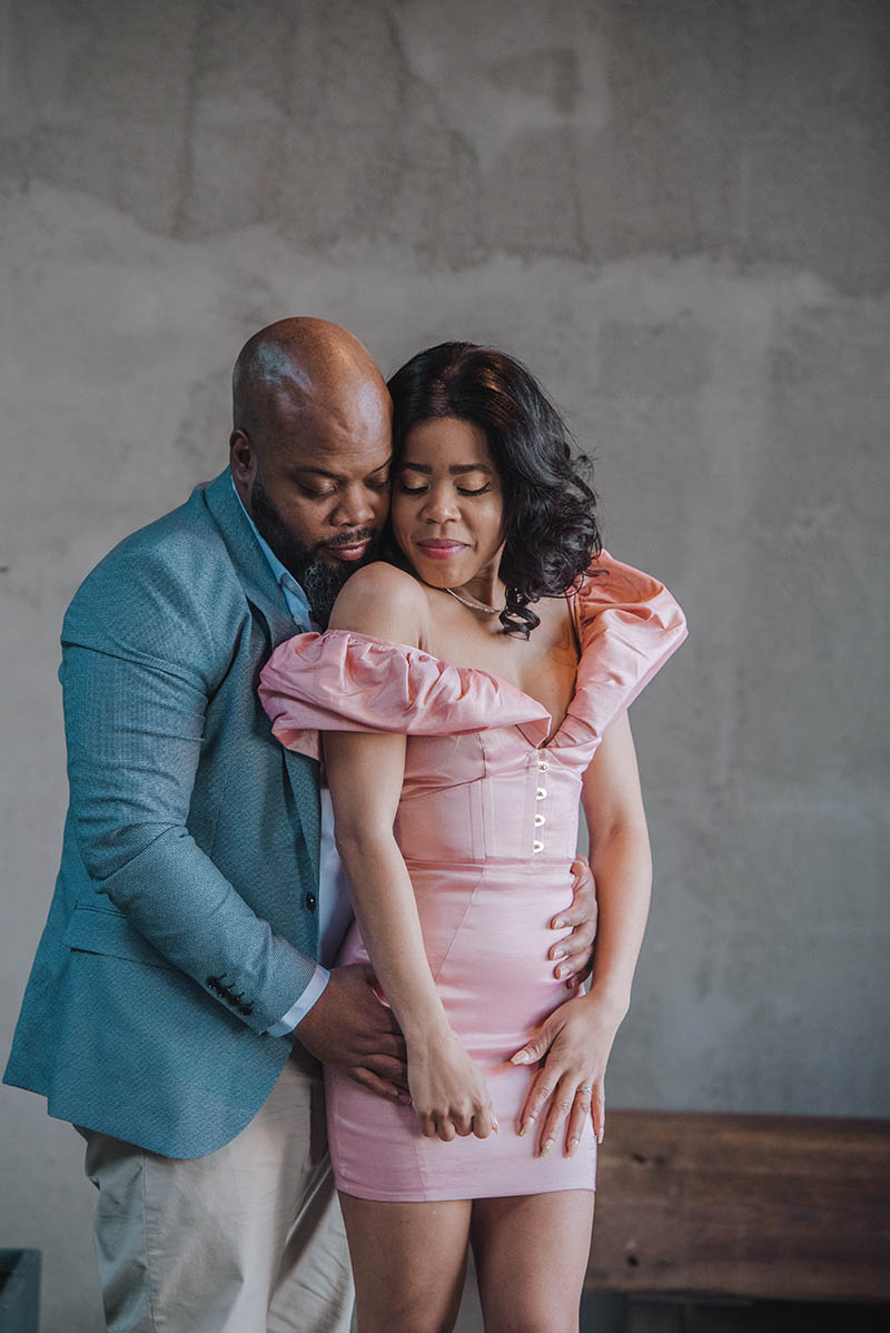 African America engagement photography