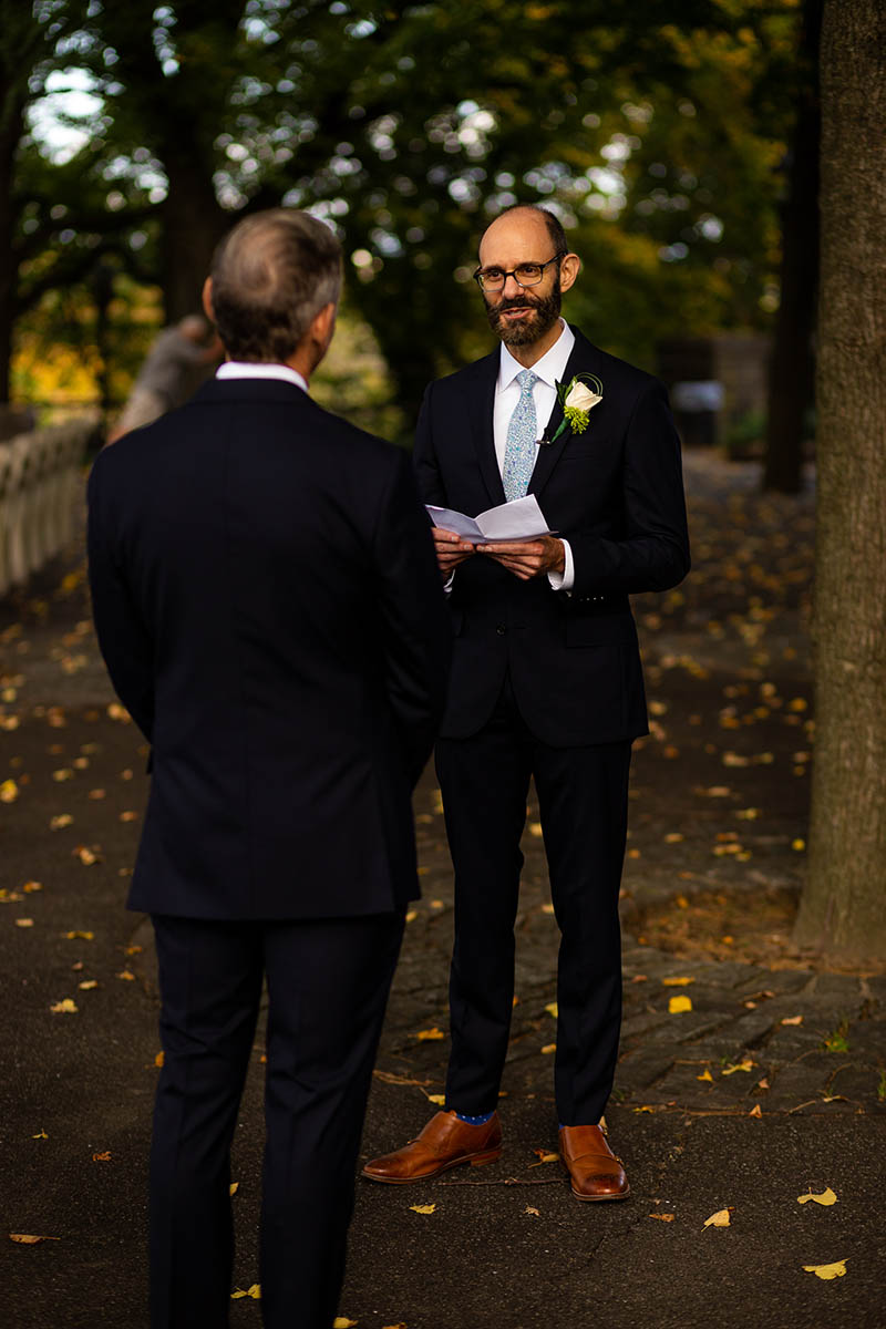 Fort Tryon wedding ceremony