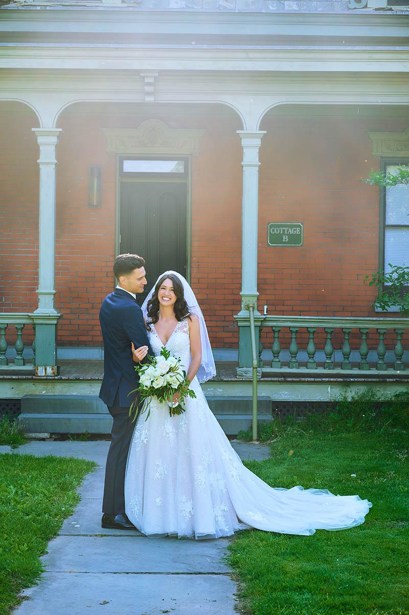 Bride and groom portraits at Snug Harbor