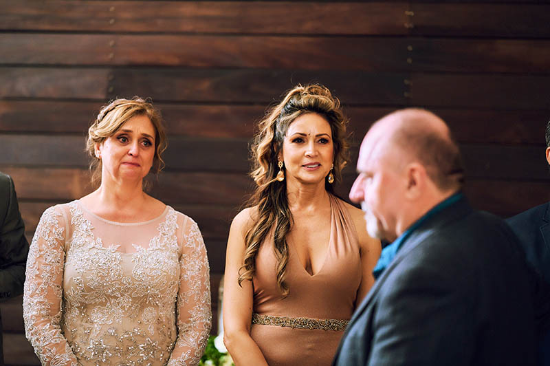 Parents of couple watching first dance